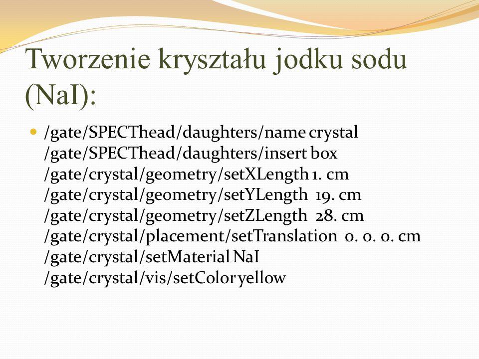 Tworzenie kryształu jodku sodu (NaI):