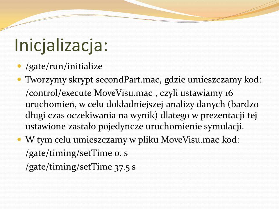 Inicjalizacja: /gate/run/initialize