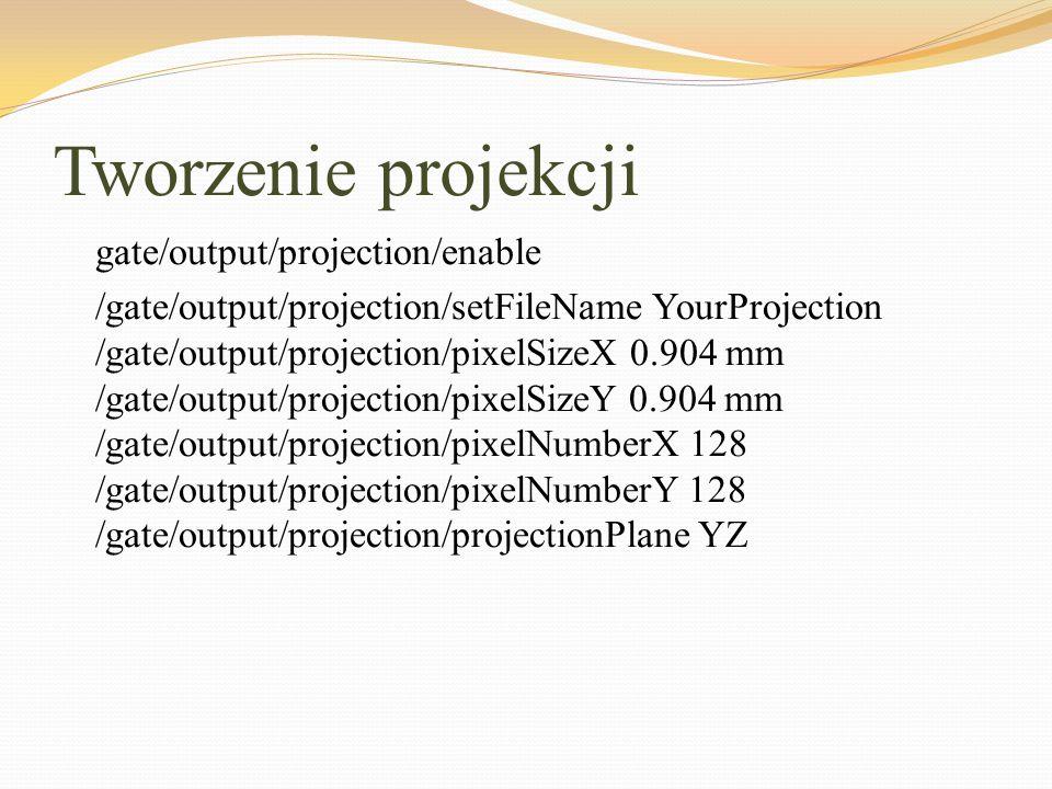 Tworzenie projekcji