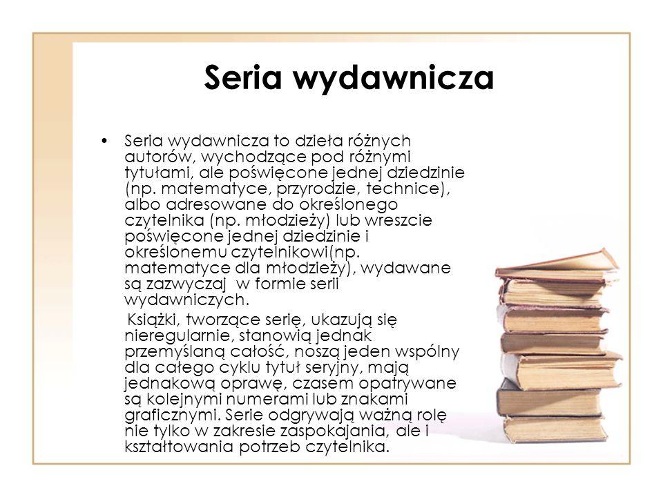 Seria wydawnicza