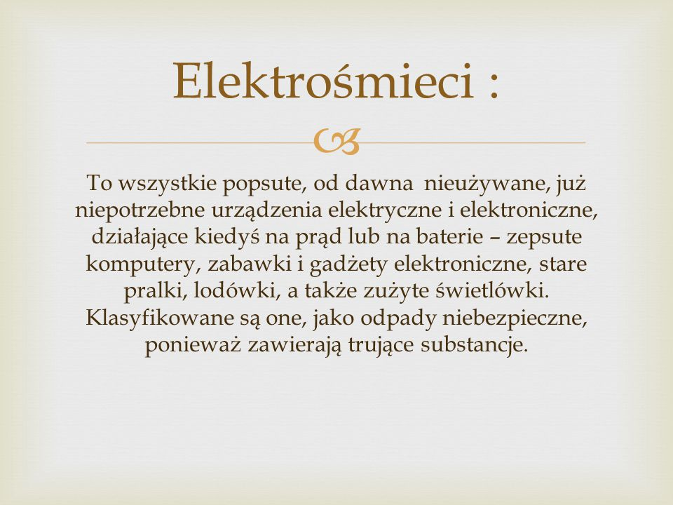 Elektrośmieci :