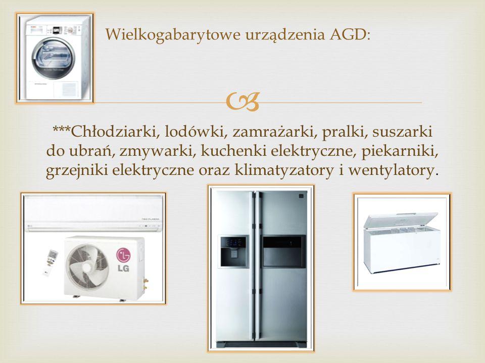 Wielkogabarytowe urządzenia AGD:
