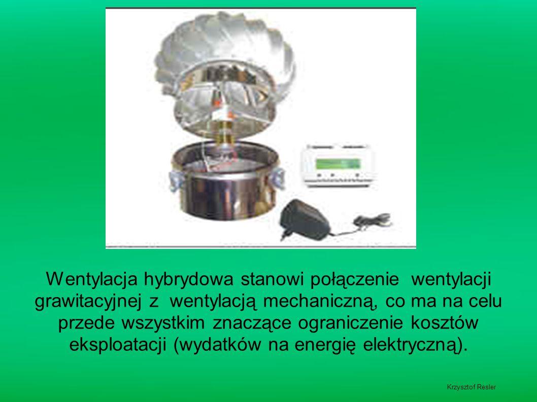 Wentylacja hybrydowa stanowi połączenie wentylacji grawitacyjnej z wentylacją mechaniczną, co ma na celu przede wszystkim znaczące ograniczenie kosztów eksploatacji (wydatków na energię elektryczną).