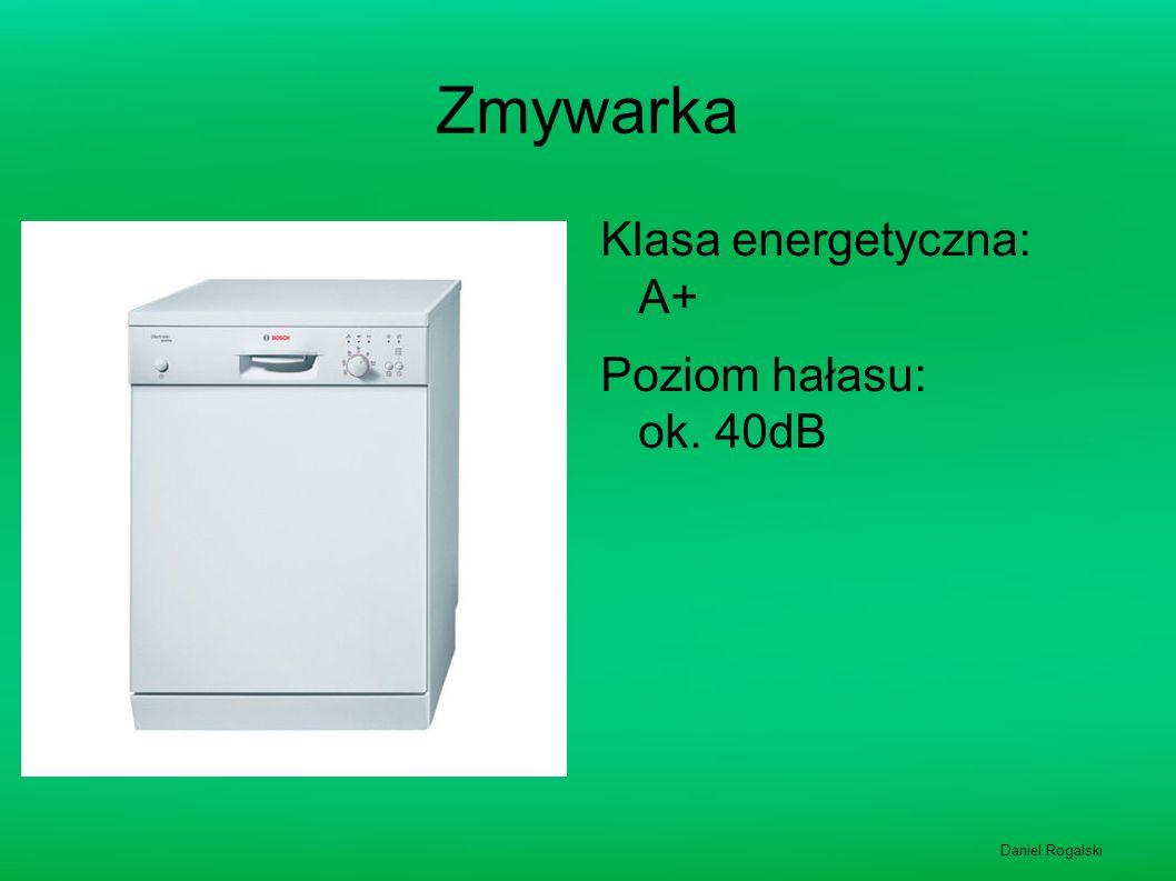 Zmywarka Klasa energetyczna: A+ Poziom hałasu: ok. 40dB
