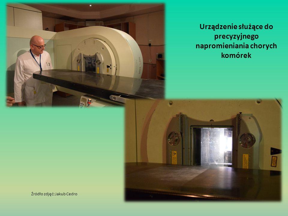 Urządzenie służące do precyzyjnego napromieniania chorych komórek