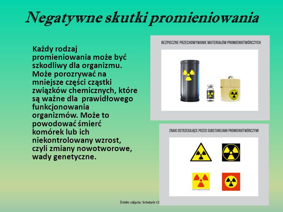 Negatywne skutki promieniowania