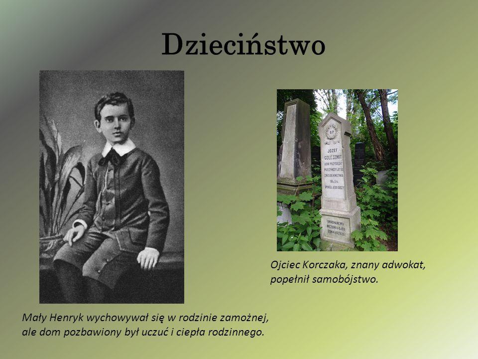 Dzieciństwo Ojciec Korczaka, znany adwokat, popełnił samobójstwo.