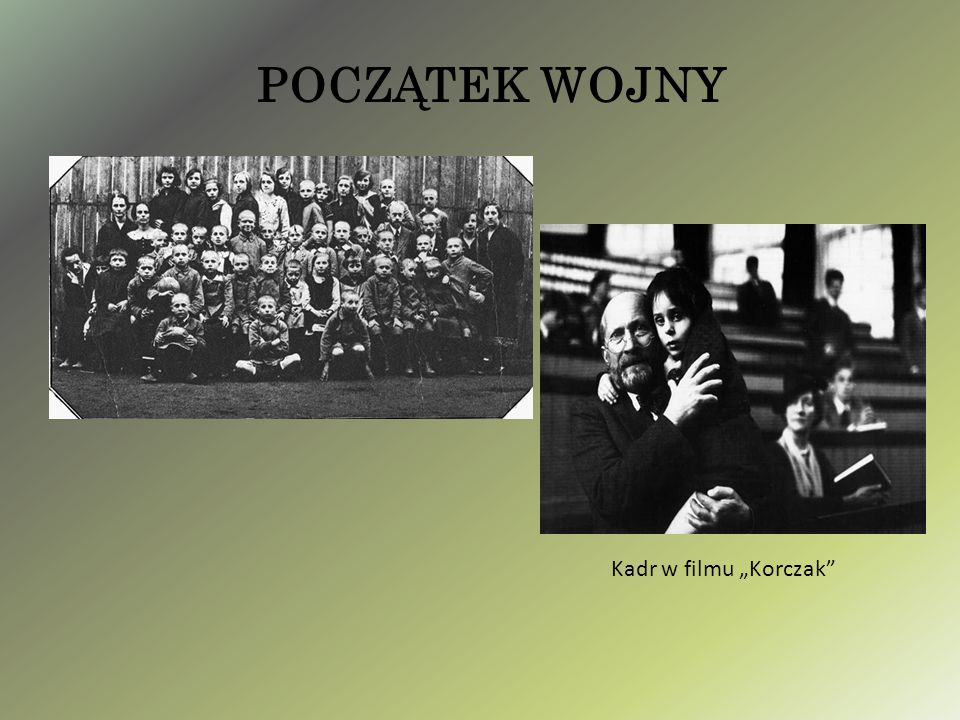 """POCZĄTEK WOJNY Kadr w filmu """"Korczak"""