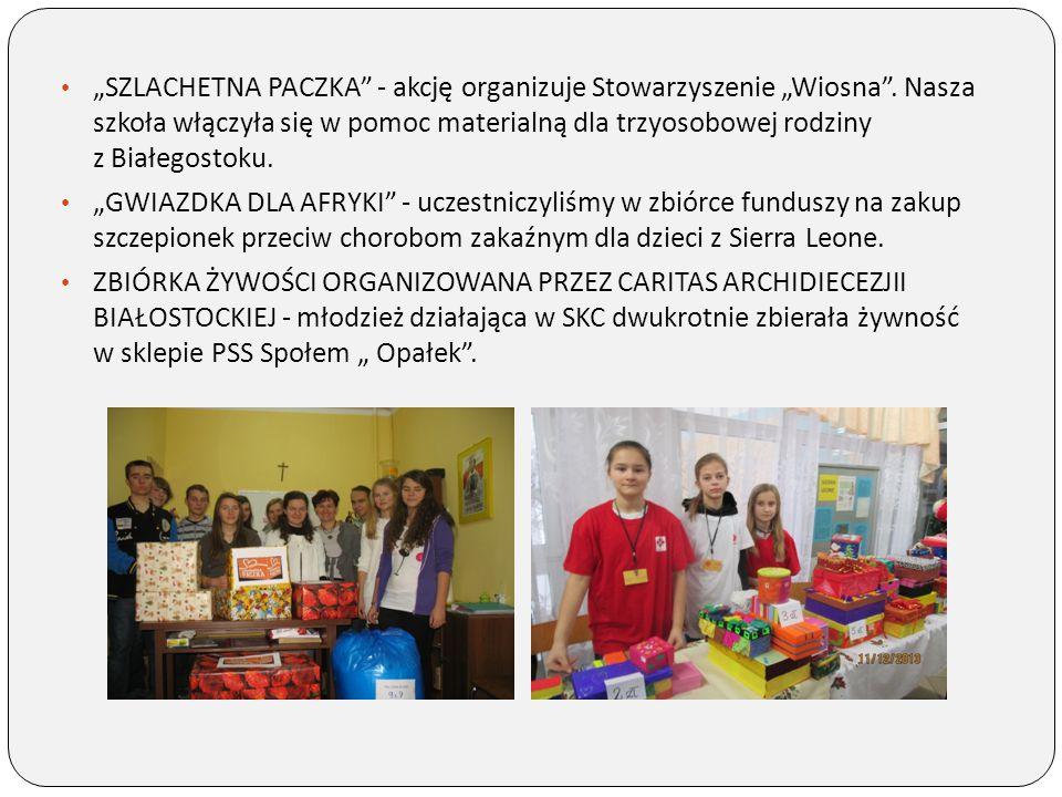 """""""SZLACHETNA PACZKA - akcję organizuje Stowarzyszenie """"Wiosna"""