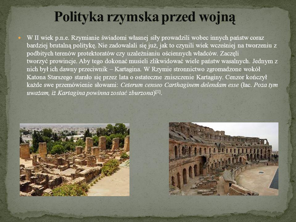 Polityka rzymska przed wojną