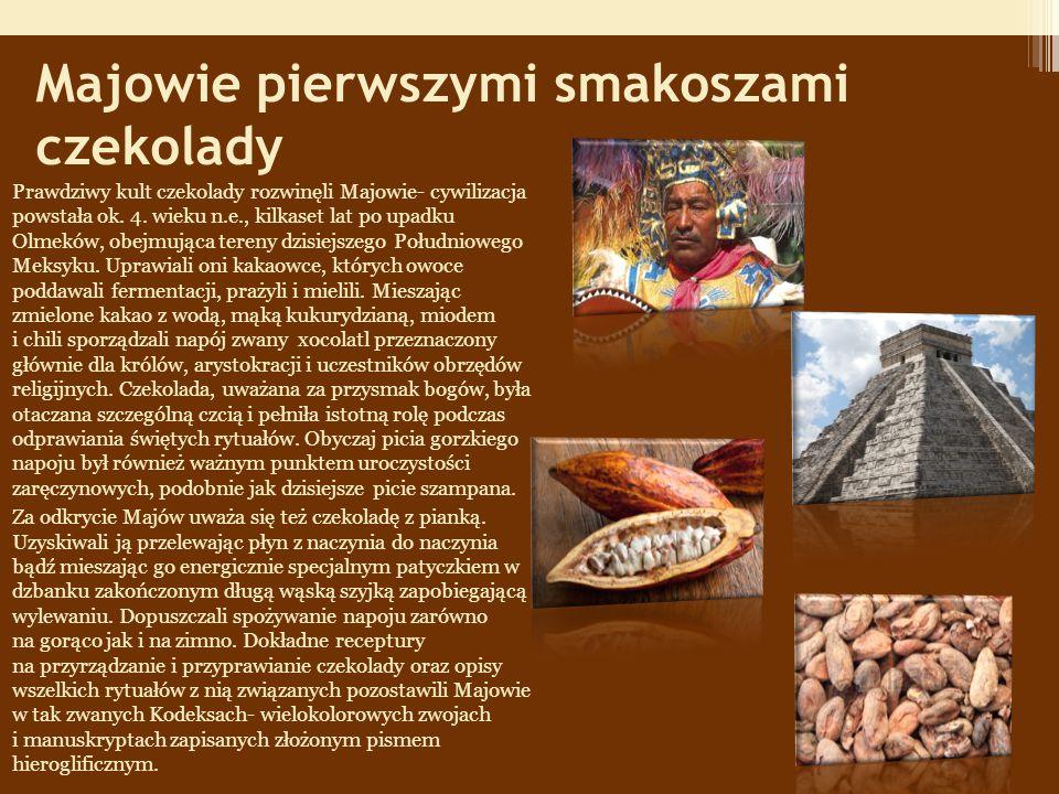 Majowie pierwszymi smakoszami czekolady