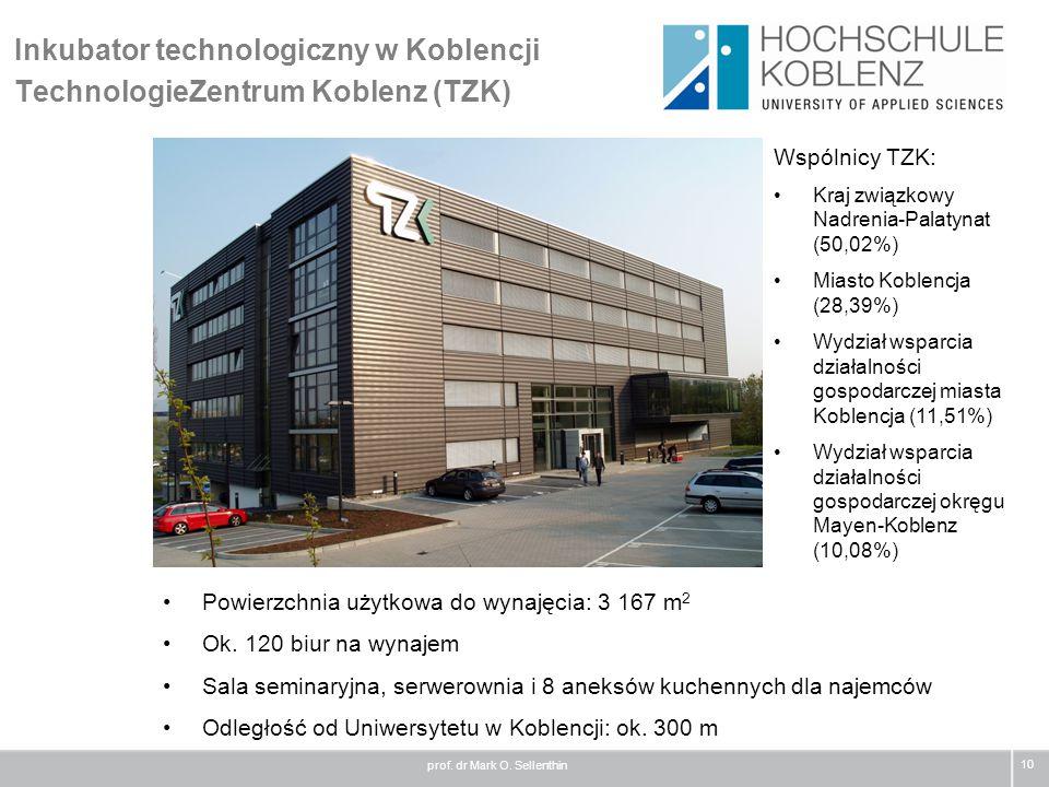 Inkubator technologiczny w Koblencji TechnologieZentrum Koblenz (TZK)