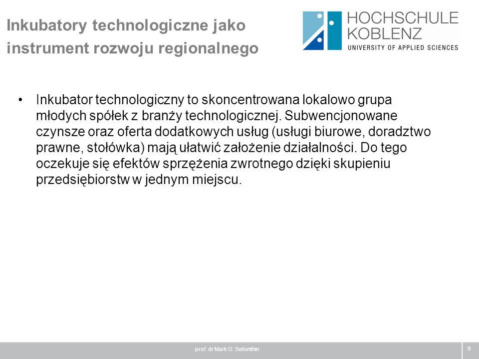 Inkubatory technologiczne jako instrument rozwoju regionalnego