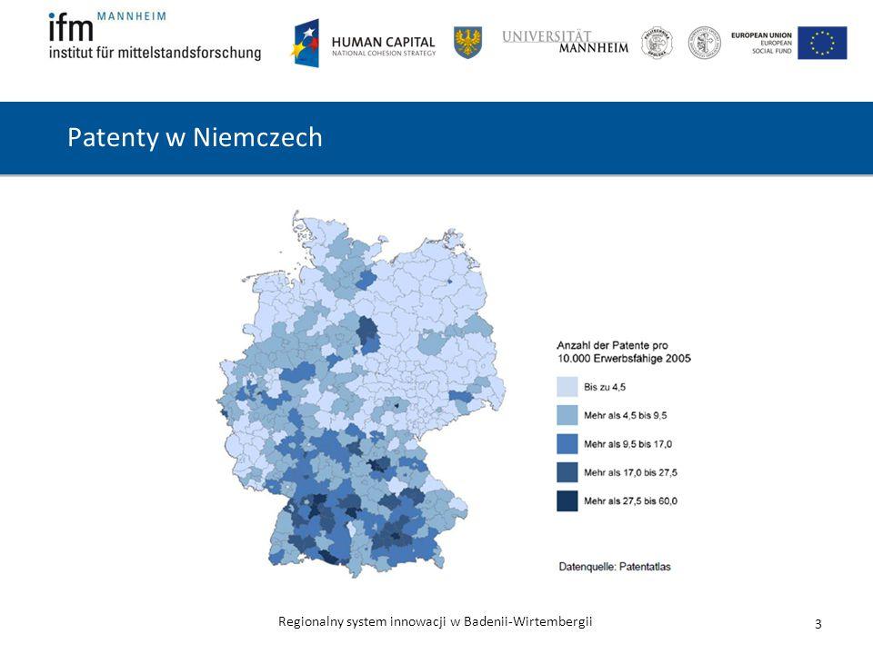 Patenty w Niemczech Liczba patentów na 10.000 zdolnych do zarobkowania w 2005 roku: Do 4,5. Od 4,5 do 9,5.