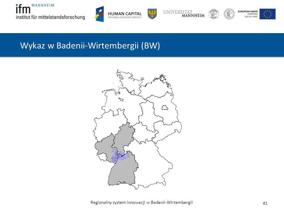 Wykaz w Badenii-Wirtembergii (BW)