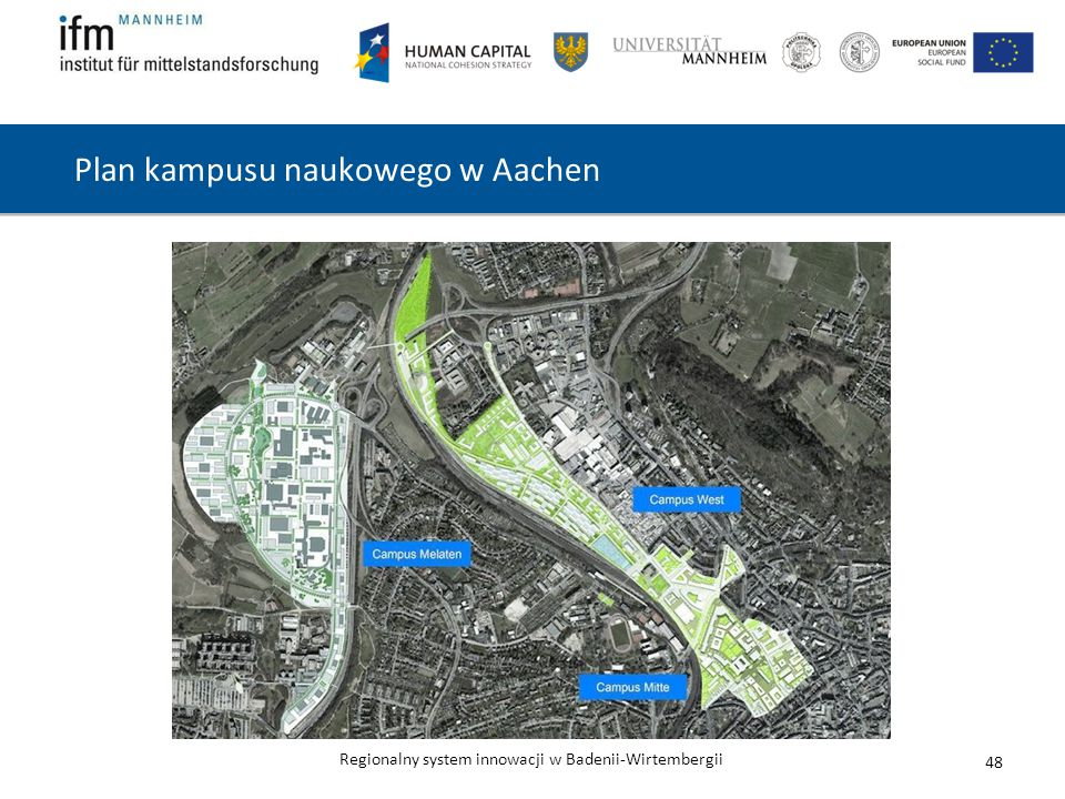 Plan kampusu naukowego w Aachen