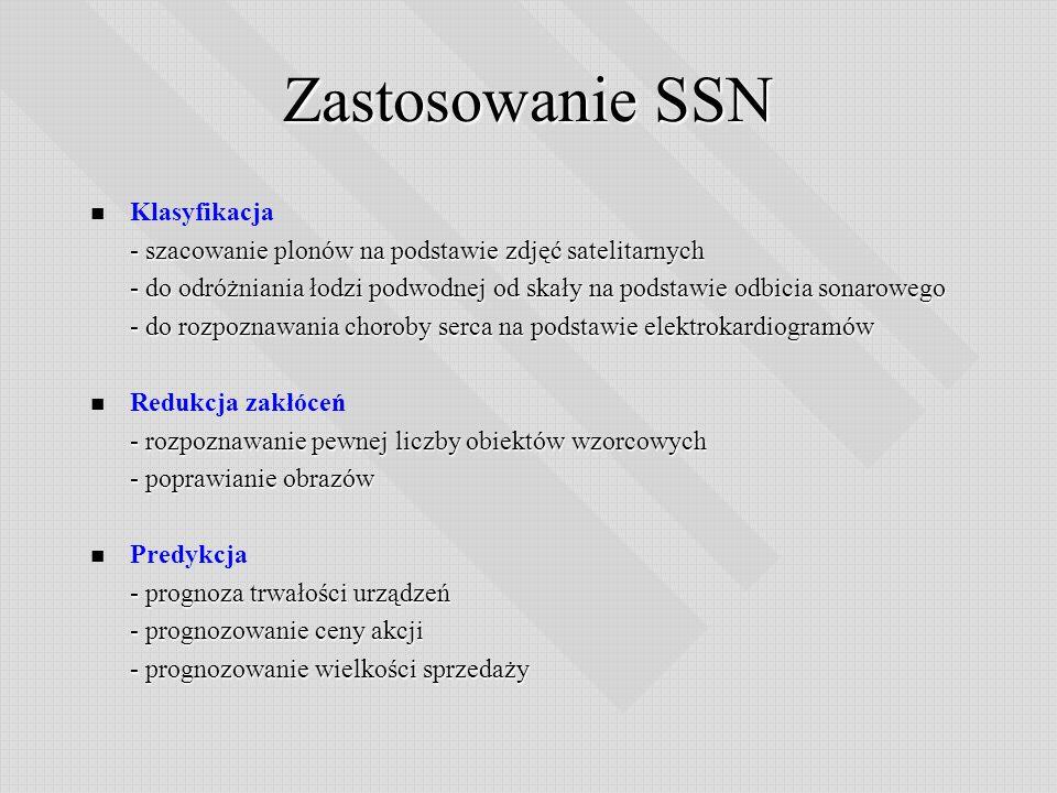 Zastosowanie SSN Klasyfikacja