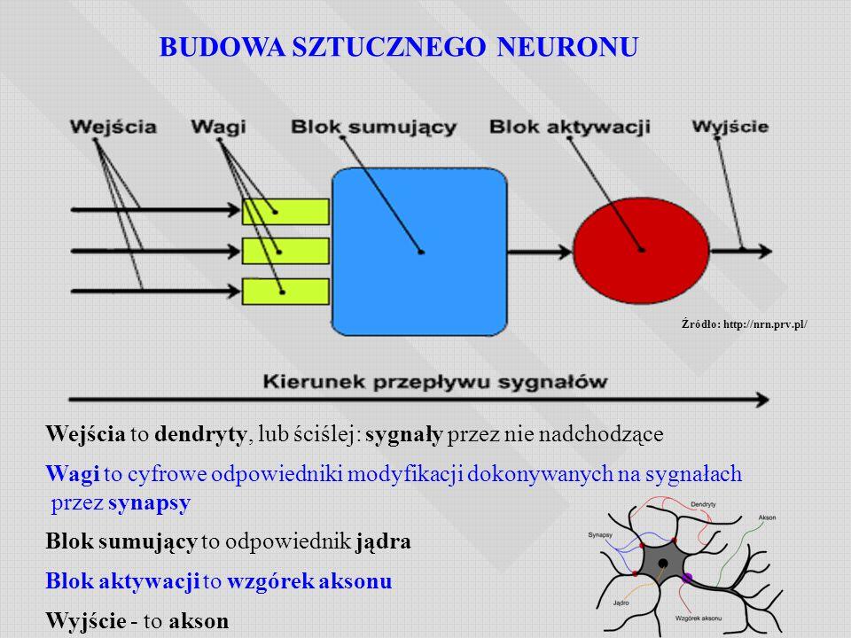 BUDOWA SZTUCZNEGO NEURONU