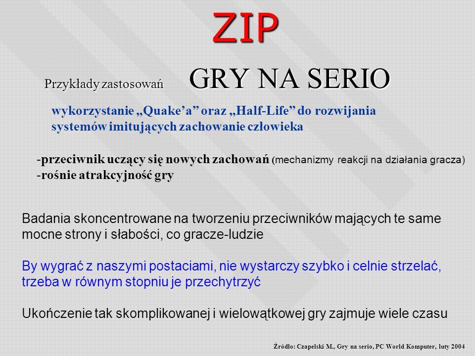 Przykłady zastosowań GRY NA SERIO