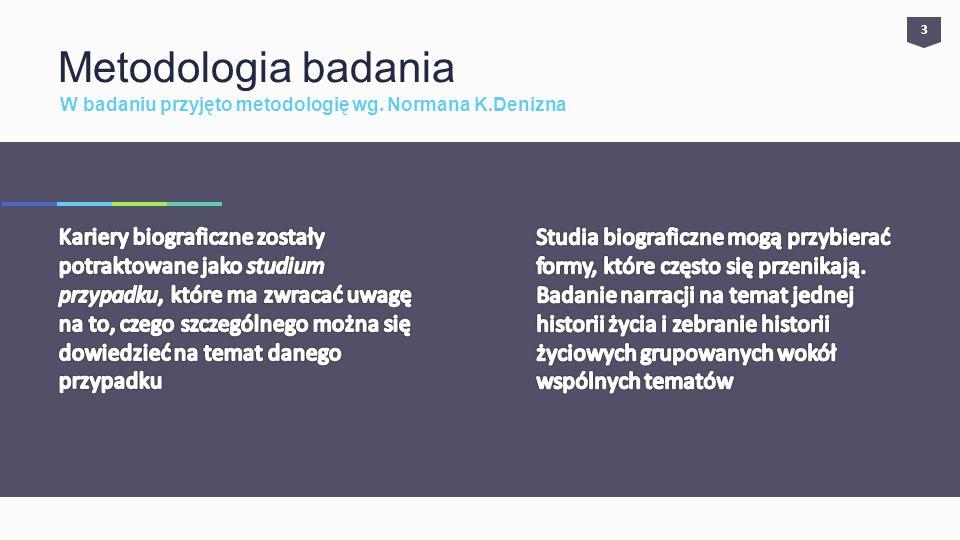 3 Metodologia badania. W badaniu przyjęto metodologię wg. Normana K.Denizna.