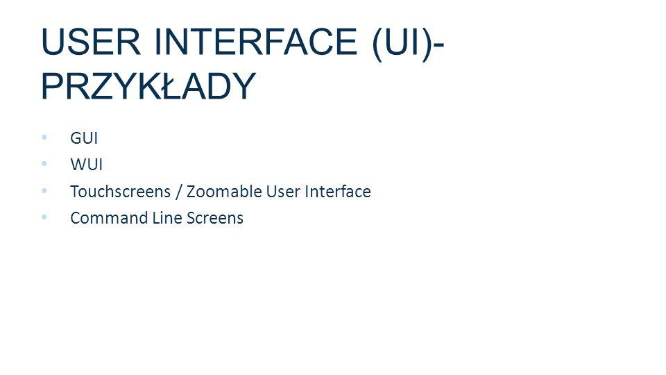USER INTERFACE (UI)- przykłady