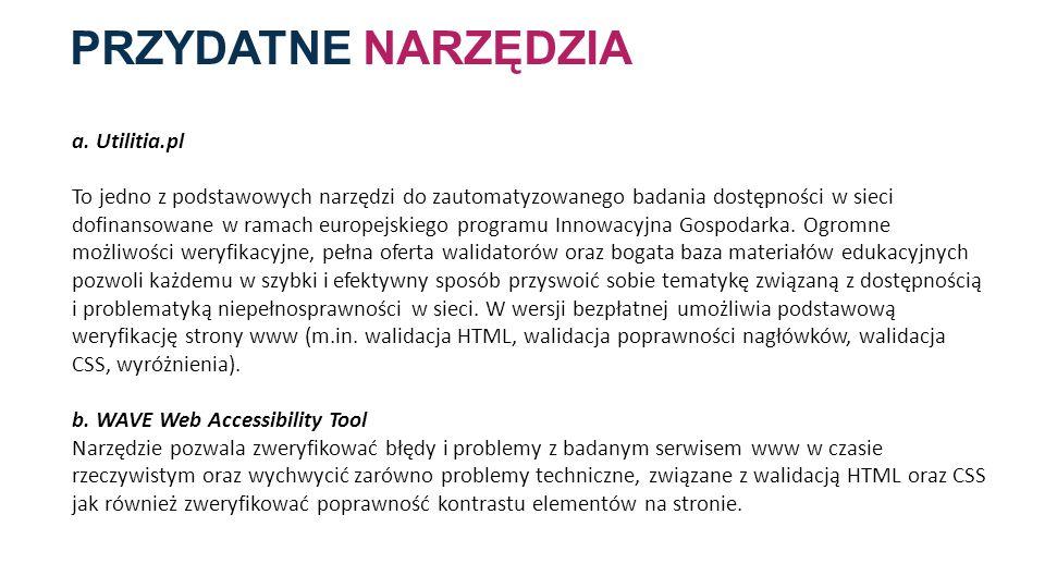 PRZYDATNE NARZĘDZIA a. Utilitia.pl