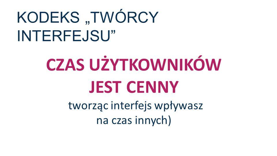 """KODEKS """"TWÓRCY INTERFEJSU"""