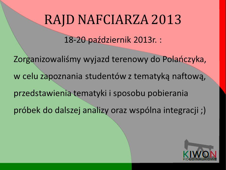 RAJD NAFCIARZA 2013 18-20 październik 2013r. :