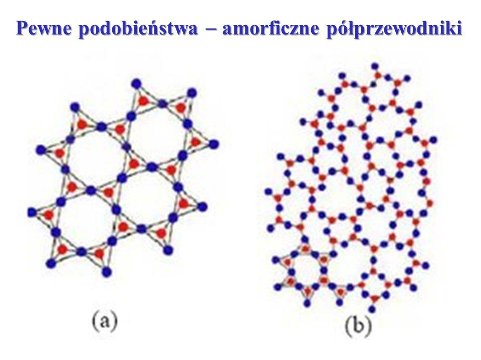 Pewne podobieństwa  amorficzne półprzewodniki