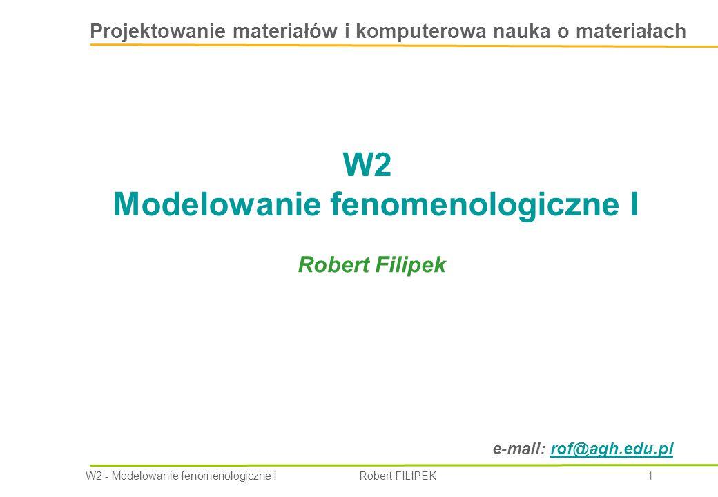 W2 Modelowanie fenomenologiczne I