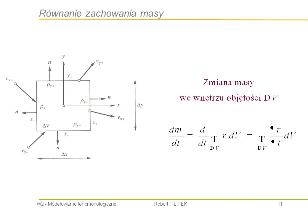 Równanie zachowania masy