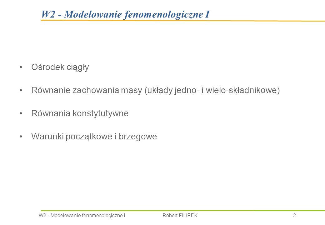 W2 - Modelowanie fenomenologiczne I