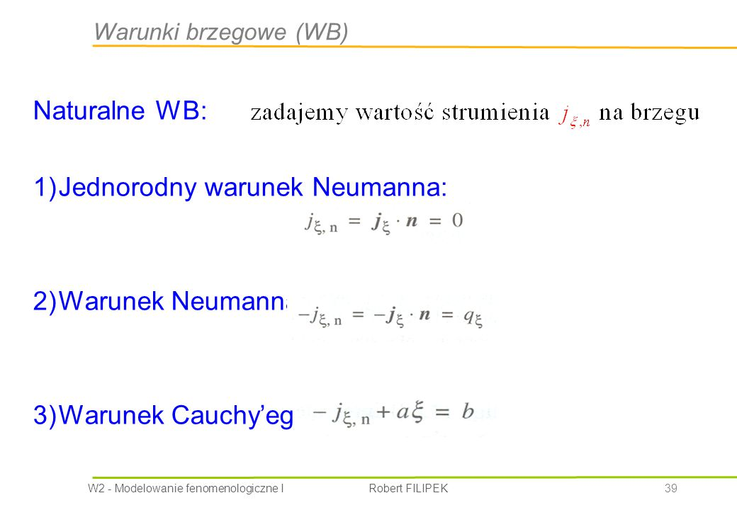 Jednorodny warunek Neumanna: