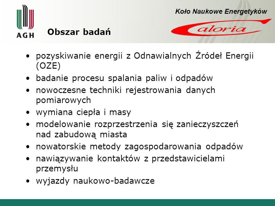 pozyskiwanie energii z Odnawialnych Źródeł Energii (OZE)