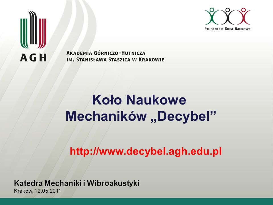 """Koło Naukowe Mechaników """"Decybel"""