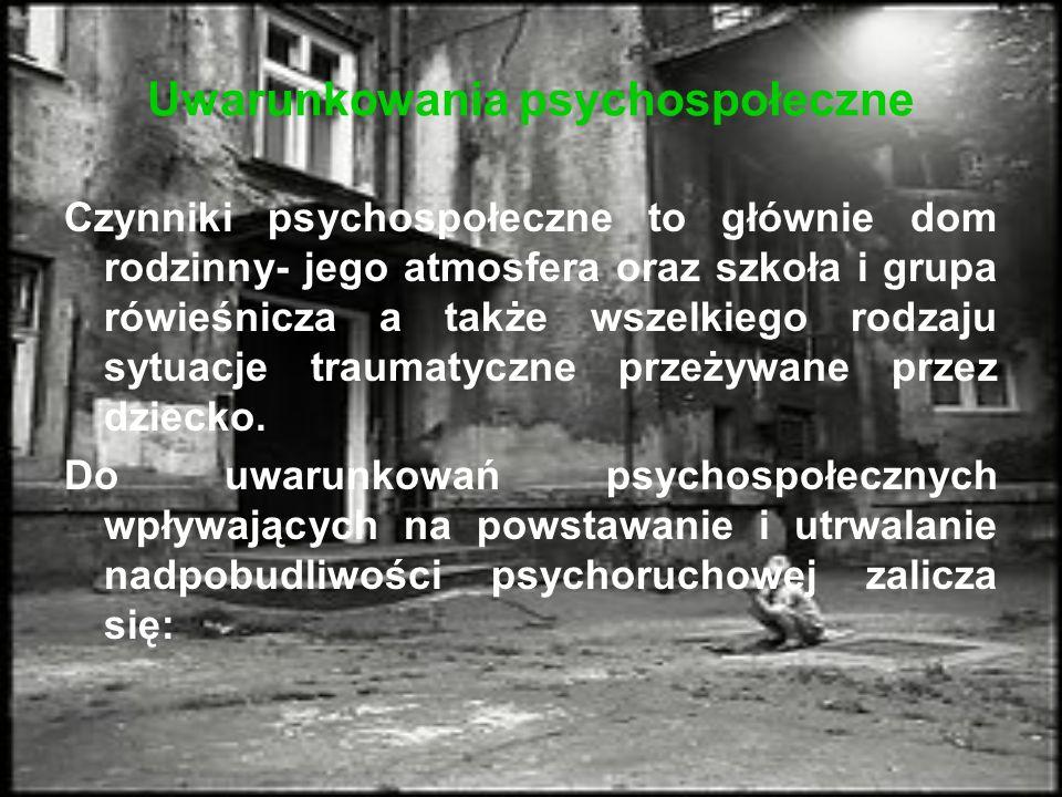 Uwarunkowania psychospołeczne