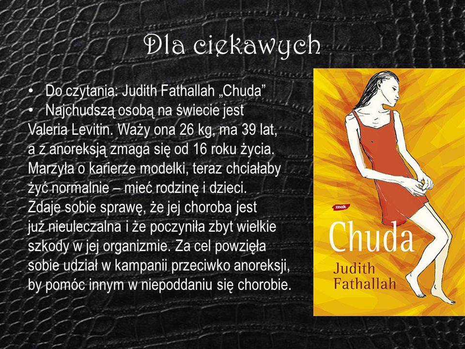 """Dla ciekawych Do czytania: Judith Fathallah """"Chuda"""