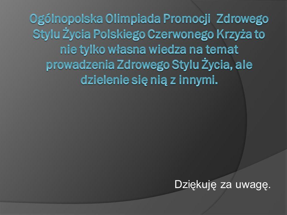 Ogólnopolska Olimpiada Promocji Zdrowego Stylu Życia Polskiego Czerwonego Krzyża to nie tylko własna wiedza na temat prowadzenia Zdrowego Stylu Życia, ale dzielenie się nią z innymi.