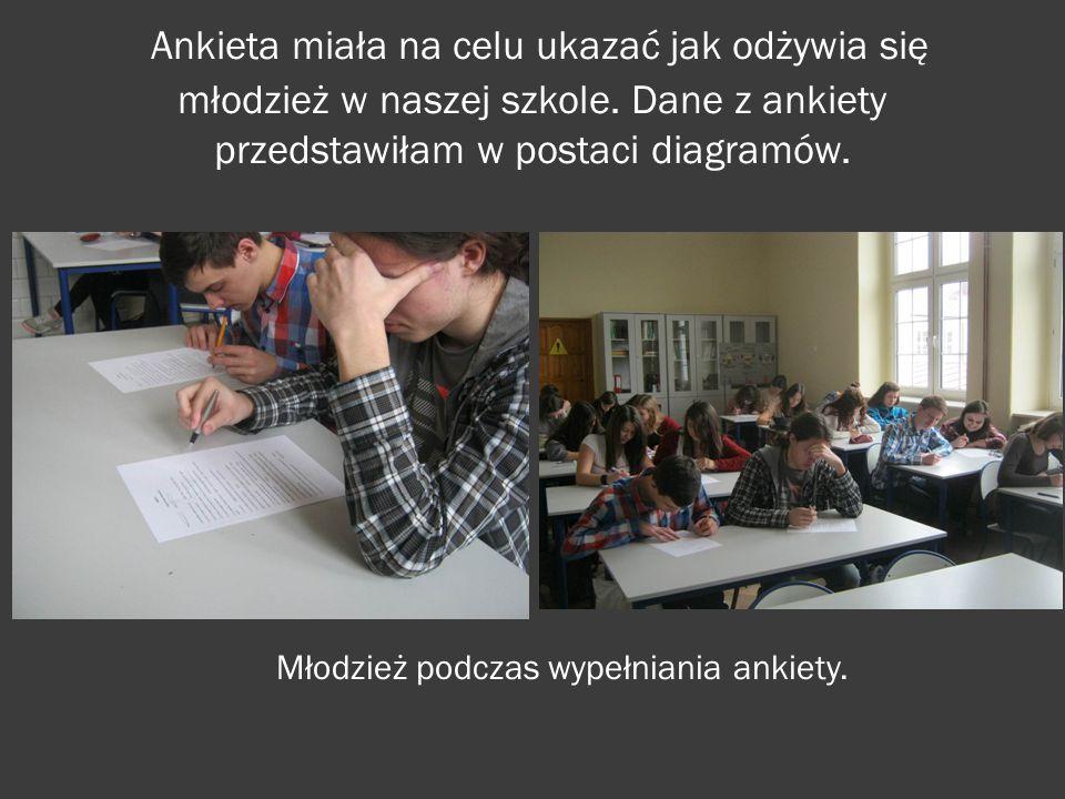 Młodzież podczas wypełniania ankiety.