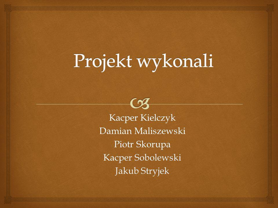 Projekt wykonali Kacper Kielczyk Damian Maliszewski Piotr Skorupa