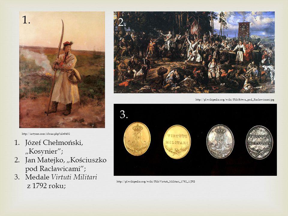 """1. 2. 3. Józef Chełmoński, """"Kosynier ;"""