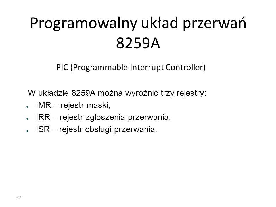 Programowalny układ przerwań 8259A