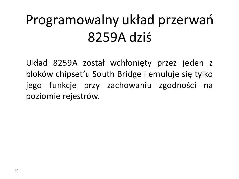 Programowalny układ przerwań 8259A dziś