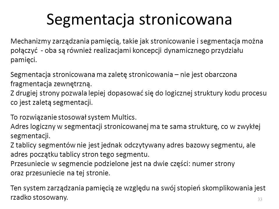 Segmentacja stronicowana