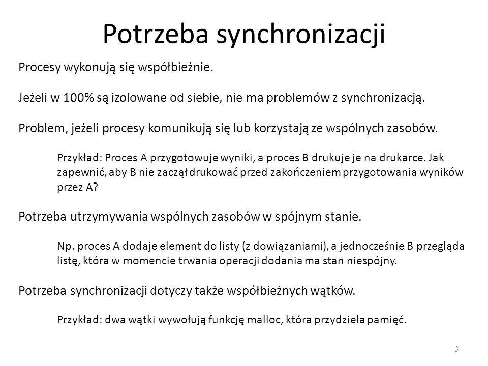 Potrzeba synchronizacji