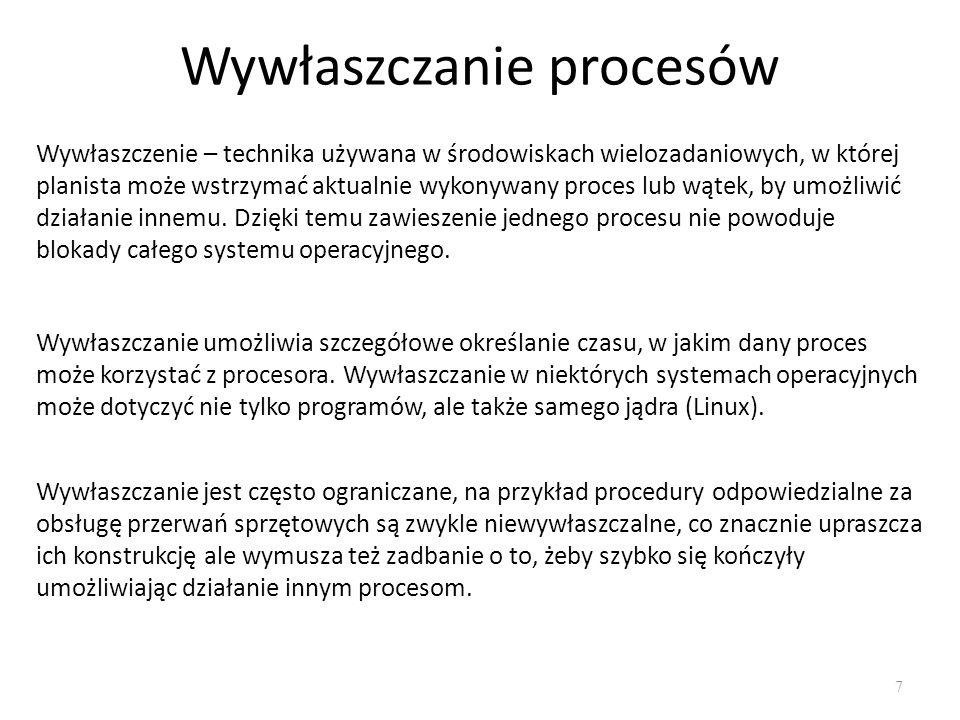 Wywłaszczanie procesów