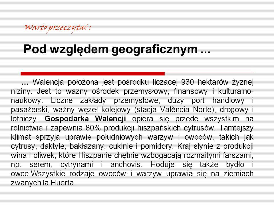 Warto przeczytać : Pod względem geograficznym ...