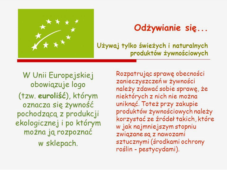 W Unii Europejskiej obowiązuje logo