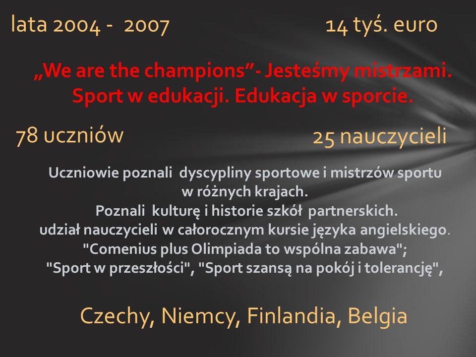 Czechy, Niemcy, Finlandia, Belgia