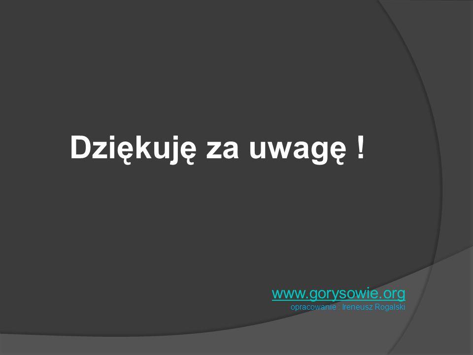 Dziękuję za uwagę ! www.gorysowie.org opracowanie : Ireneusz Rogalski
